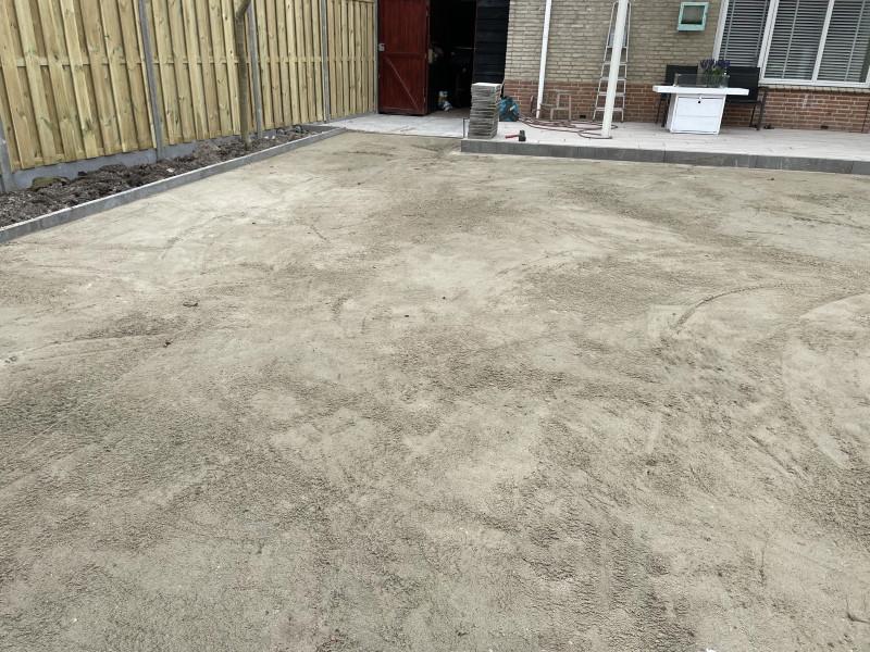 Stabiele ondergrond kunstgras met zand
